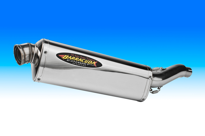 Barracuda GP/EVO Triumph Tiger 1050 07- Tri-oval Single Tip SS/SS SLO-Stainless mit ABE