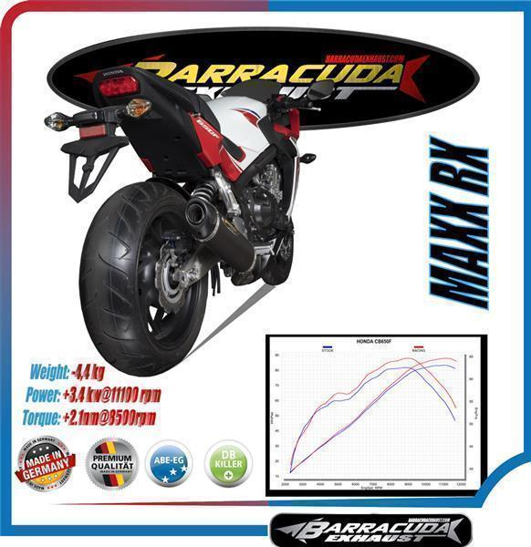 Barracuda MAX RX Slipon Yamaha YZF-R3- YZF-R 25/30/ MT03