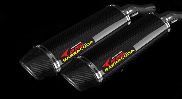 Barracuda RS-R 400 Cone Series Dual Underseat oval YZF R1 04-06 Slipon mit ABE